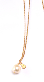 Pearl & Shell Golden Necklace