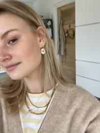 Daisy Sterling Hoop Earrings