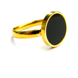 Black-Gold Circle Ring