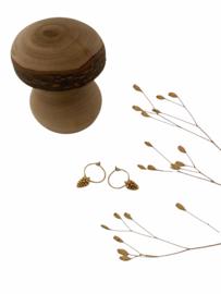 Pinecone Golden Hoop Earrings
