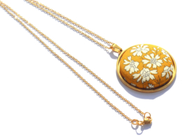 Pendant Liberty Big Golden Necklace
