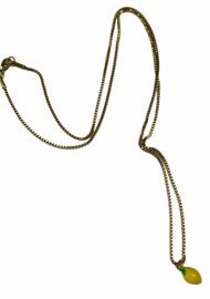 Golden Fresh Lemon Necklace