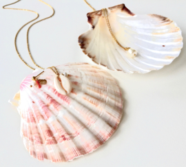 Shell & Pearl Golden Necklace