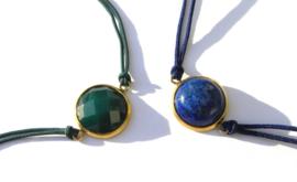 Natural Stone & Strap Bracelet