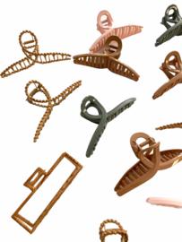 Rattan & Wood Hairclip