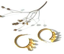 Golden Charm's Hoop Earrings
