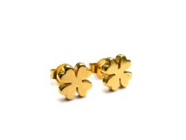 CLOVER earstuds gold