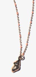 Enamel & Golden Shell Necklace