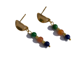 Curved Gemstone Earstuds