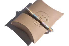 Pastel Agate & Tube Bracelet
