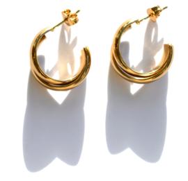 Double Hoop Golden Earstuds