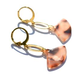Fan Ovale Golden Earrings