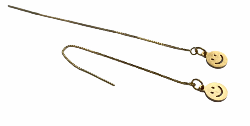 Happy Smile Golden Threader Earrings