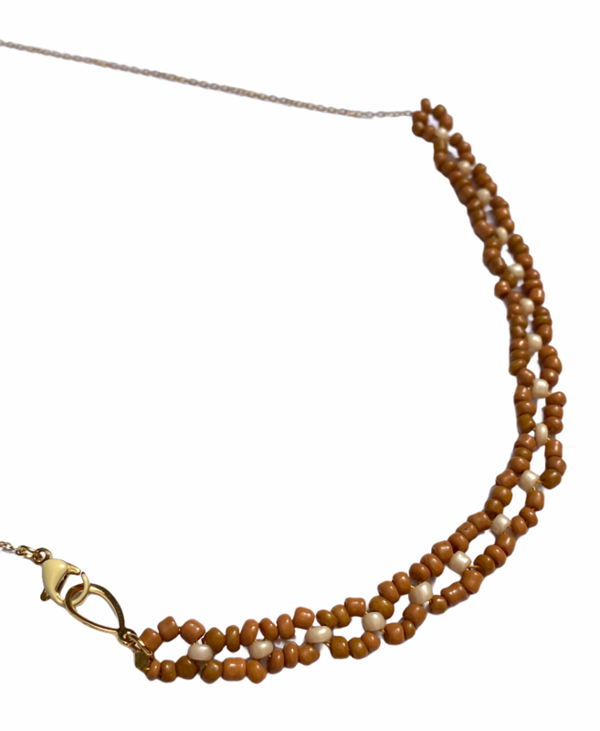 Circle Beads Golden Necklace