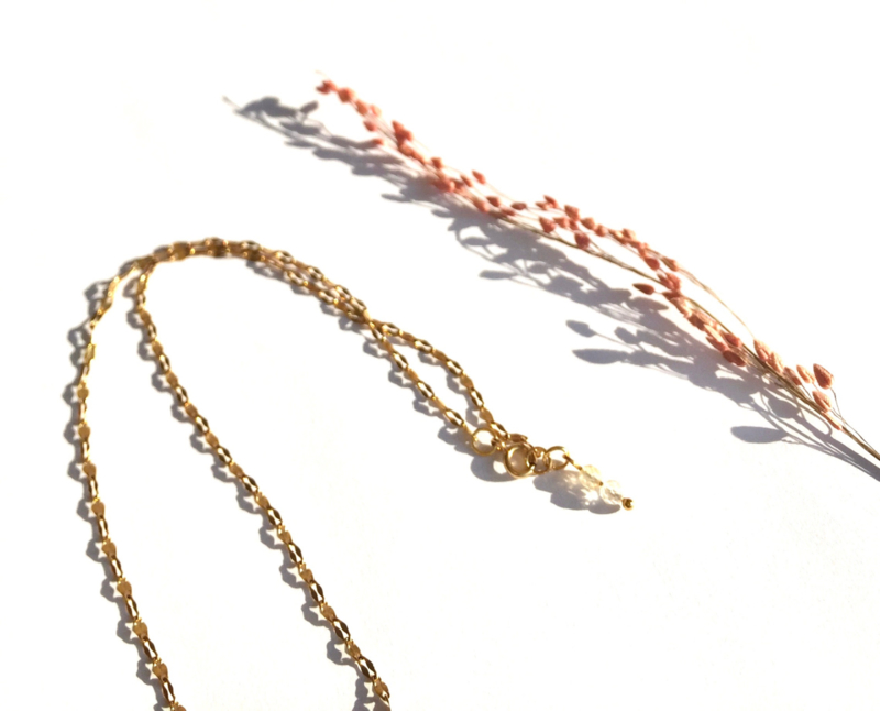 Lucky Citrine Golden Necklace