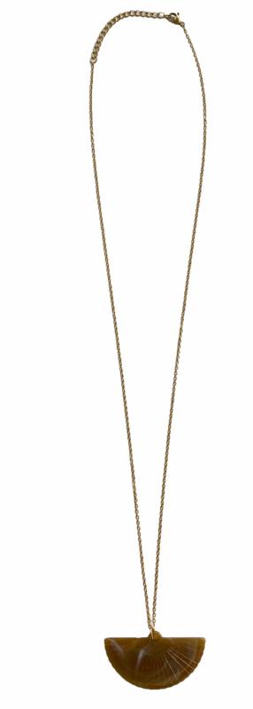 Fan Golden Necklace