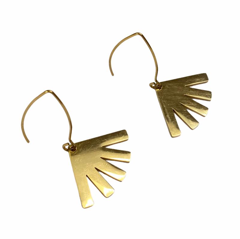 Little Sunshine Fan Earrings