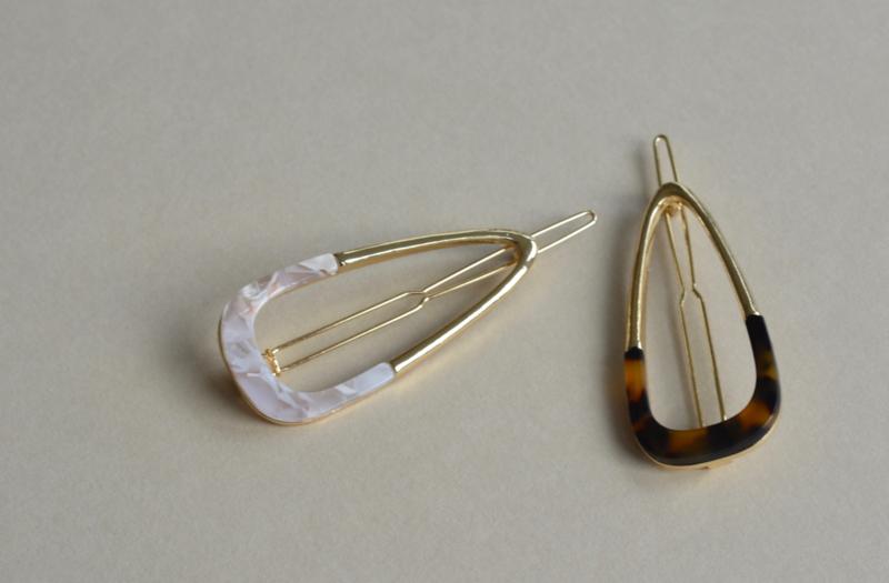 Acetate & Gold Hair Pin