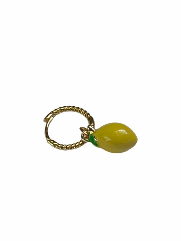 Lemon Twist Hoop Earring