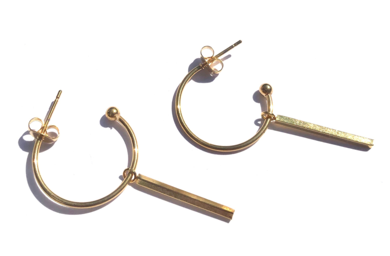 Hoop & Bar Earrings