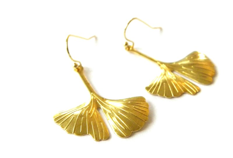 Ginkgo Long Earrings