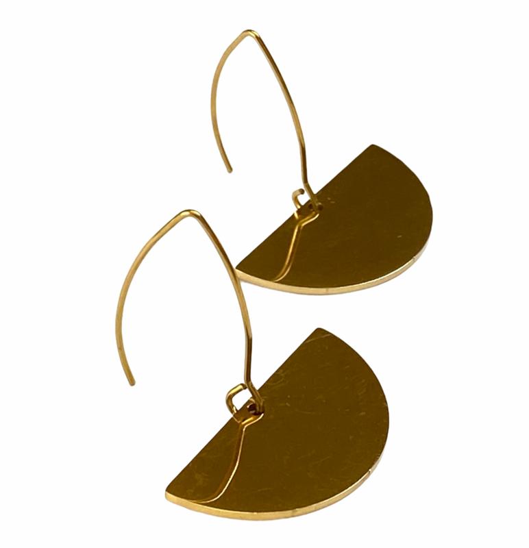 Fan & Hoop Earrings