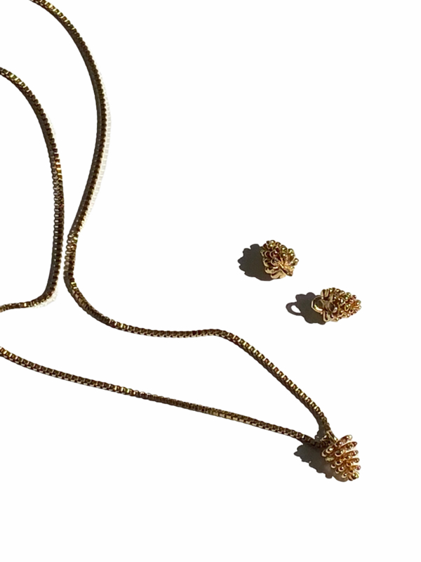 Pinecone Golden Necklace