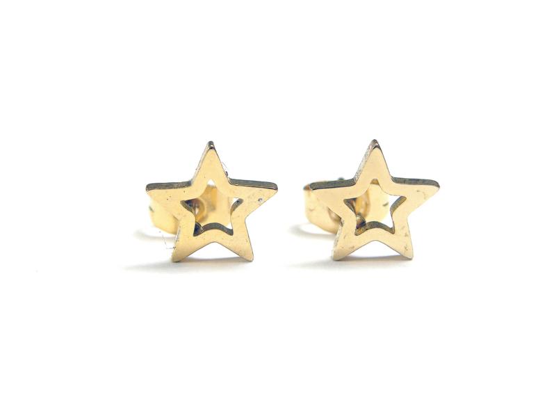 STARS earstuds gold
