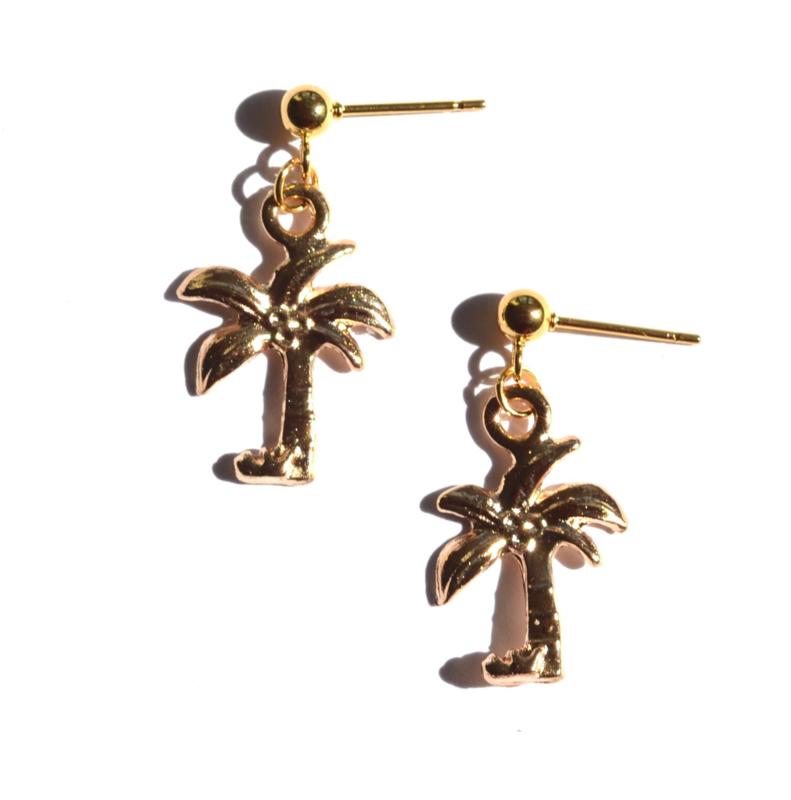 Palm Tree Golden Earrings