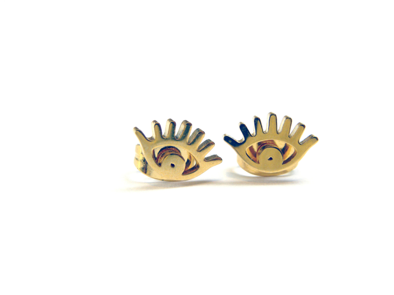 EYE earrings gold