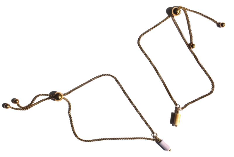 Pastel Agate Golden Bracelet