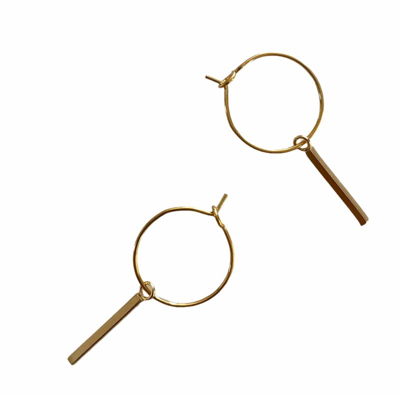 Little Hoops Bar Earrings