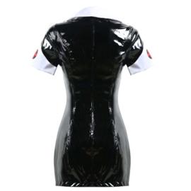 Zwart lak verpleegsters outfit