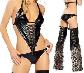 Sexy Leopard partywear 2-delig setje maat 36/38