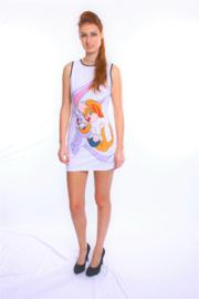 Sexy wit jurkje met Looney Tunes