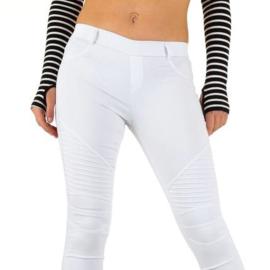 Witte skinny broek maat 38