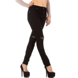 Strakke zwarte skinny broek maat 40