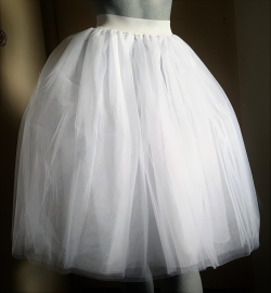 Witte 5 laagse petticoat