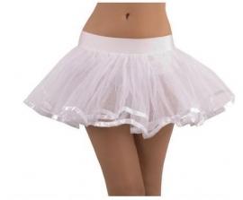 Witte tule petticoat.