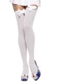 Witte kousen met witte strik