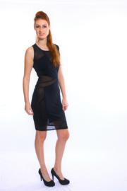 Sexy zwart mesh jurkje