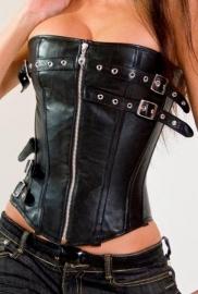 Gave zwarte zipper corset.
