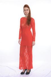Super elegante kanten avond jurk maat 38