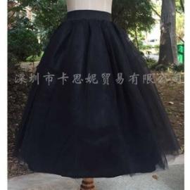 Mooie zwarte petticoat in maat 34 t/m 46