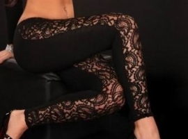 Hele aparte zwarte legging.