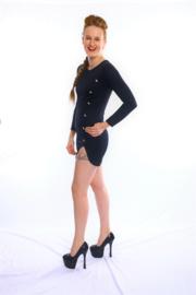 Sexy zwart of wit zomers mini jurkje