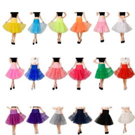 Supergave 50's retro vintage petticoat in 18 kleuren.