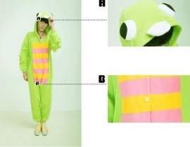 Kikker Frog onesie, onepiece, jumpsuit, pyjama.