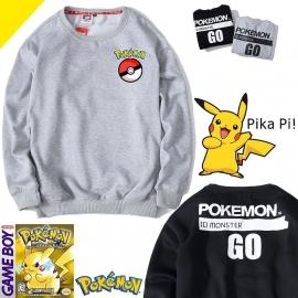 100% katoenen Pokémon Go hoodies. Grijs en zwart