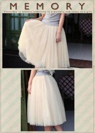 Leuke witte meerlaagse petticoat.